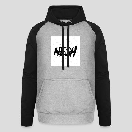 Nesh Logo - Unisex Baseball Hoodie
