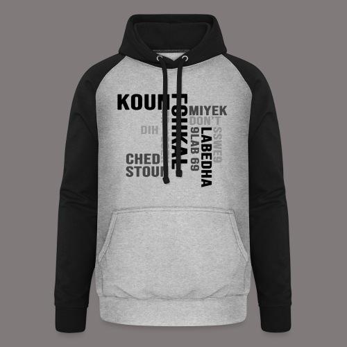 KOUN FCHKAL Nuance de gris - Sweat-shirt baseball unisexe