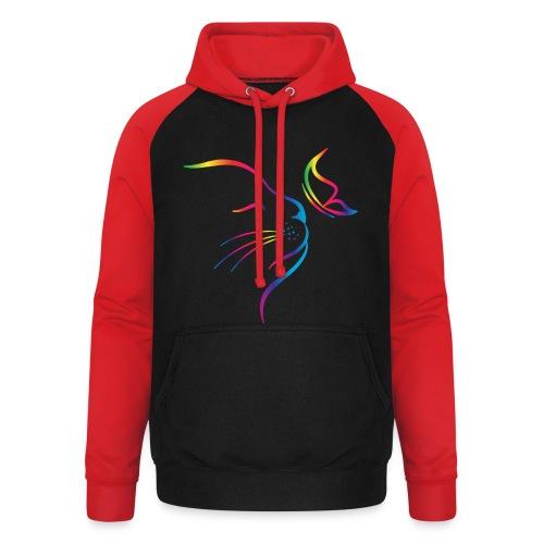 Vorschau: rainbow butterfly cat - Unisex Baseball Hoodie