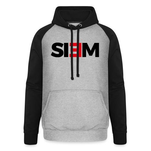 siem_zwart - Unisex baseball hoodie