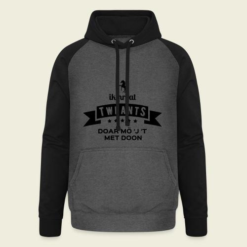 Ik proat Tweants...(donkere tekst) - Unisex baseball hoodie