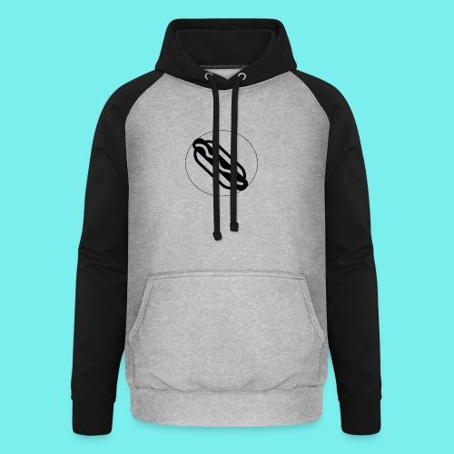 Hotdog logo - Unisex baseball hoodie