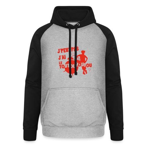 JPEUXPAS ROUGE - Sweat-shirt baseball unisexe