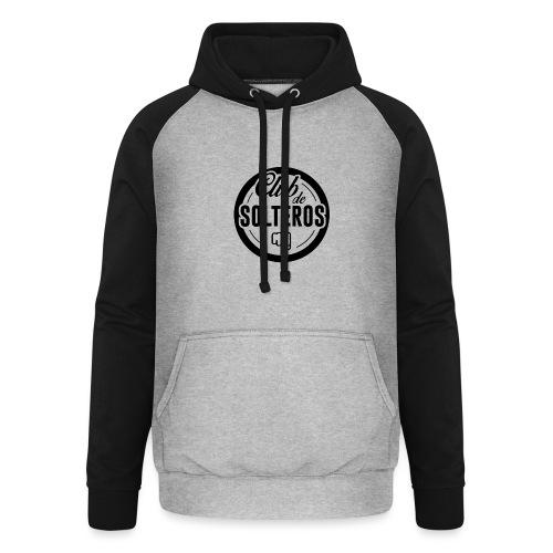 Club de Solteros (logo negro) - Sudadera con capucha de béisbol unisex