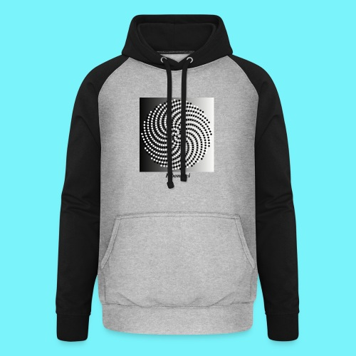 Fibonacci spiral pattern in black and white - Unisex Baseball Hoodie