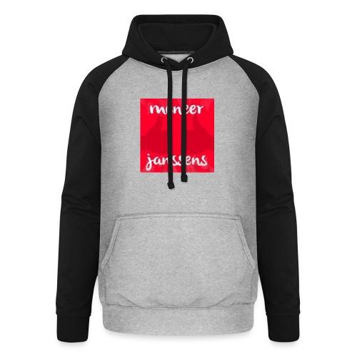 Sweater Meneer Janssens - Unisex baseball hoodie
