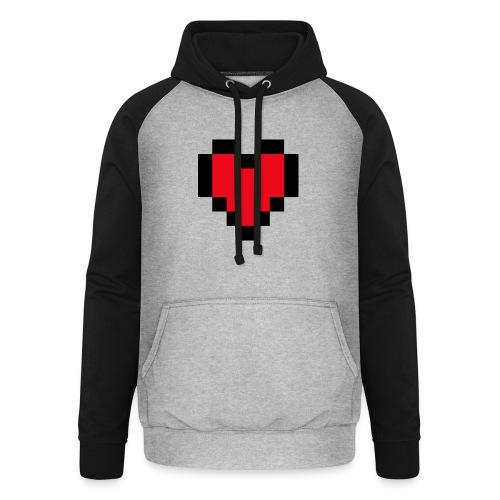 Pixel Heart - Unisex baseball hoodie