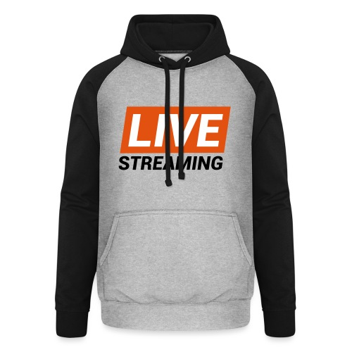 LIVE streaming - Felpa da baseball con cappuccio unisex
