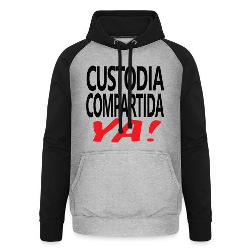 Custodia Compartida YA Negro - Sudadera con capucha de béisbol unisex