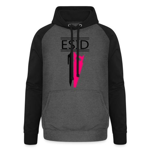 ESID Zwart-roze - Unisex baseball hoodie