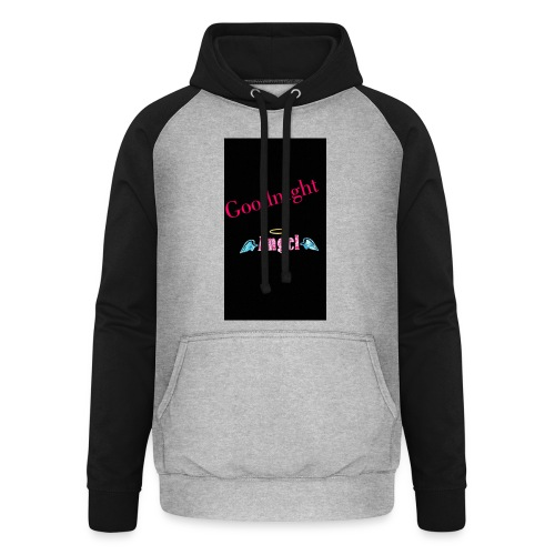goodnight Angel Snapchat - Unisex Baseball Hoodie