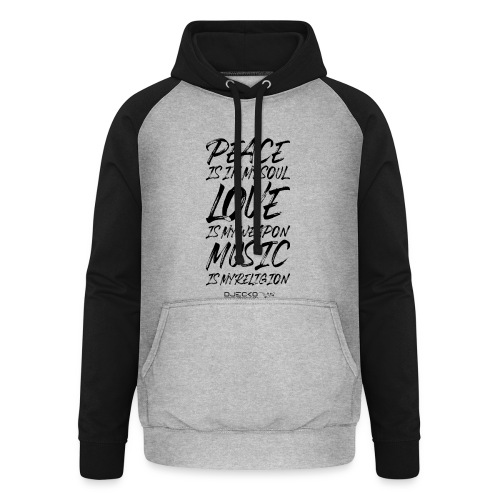 Djecko blk - Sweat-shirt baseball unisexe