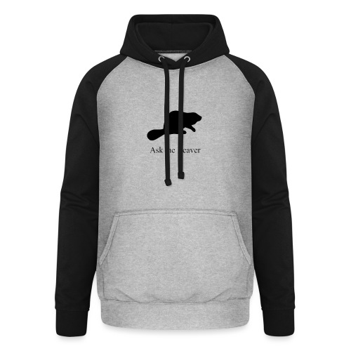 Ask the Beaver Collection [clean collection] - Unisex Baseball Hoodie
