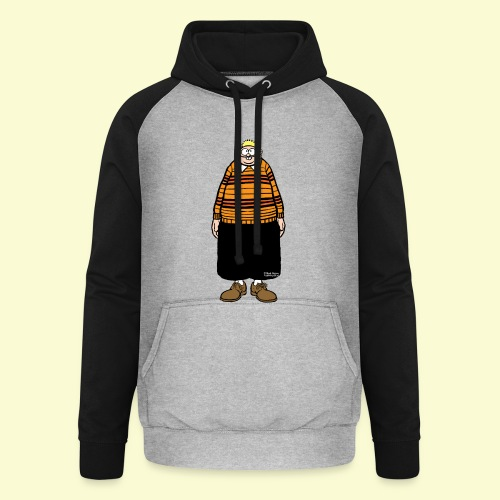 DIRKJAN Staand Solo - Unisex baseball hoodie