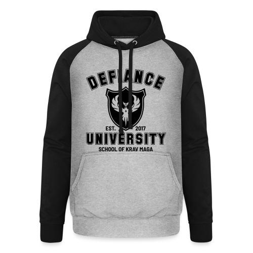Defiance University - Unisex Baseball Hoodie