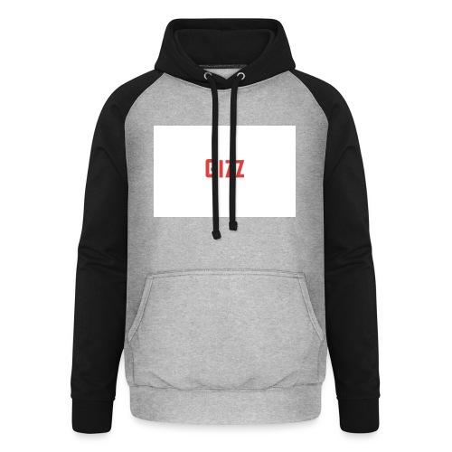 Gizz rood - Unisex baseball hoodie