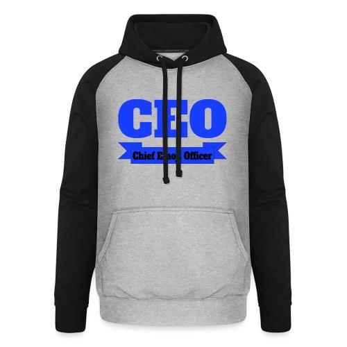CEO - Chief Emoji Officer - Unisex Baseball Hoodie