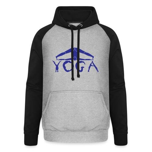yoga yogi blu namaste pace amore hippie sport art - Felpa da baseball con cappuccio unisex