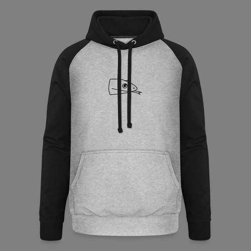 Snake logo black - Unisex baseball hoodie