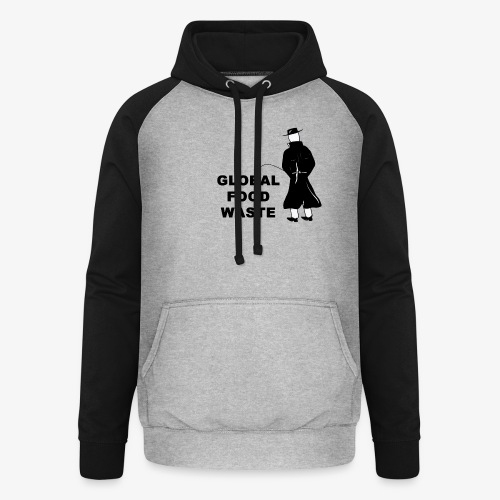 Pissing Man against Global Food Waste - Unisex Baseball Hoodie