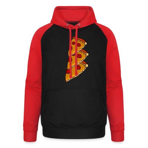 pizza - Unisex baseball hoodie