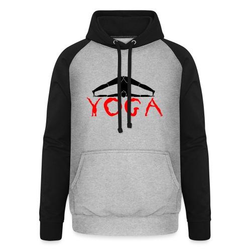 yoga yogi nero pace amore namaste sport art - Felpa da baseball con cappuccio unisex