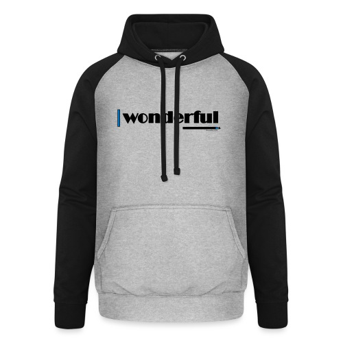 Wonderful Blue - Unisex Baseball Hoodie