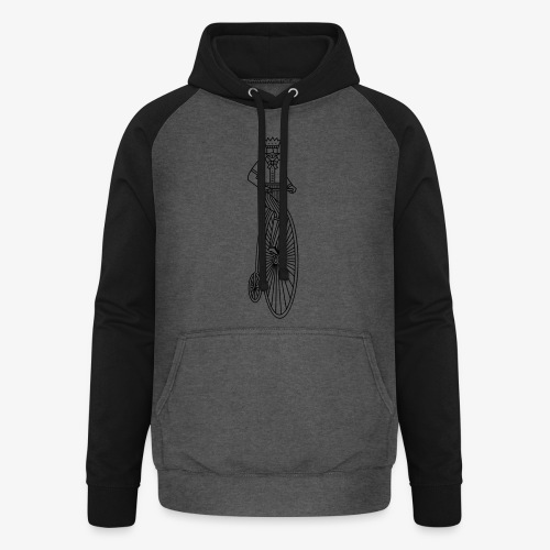 Old style bycicle - Unisex baseball hoodie