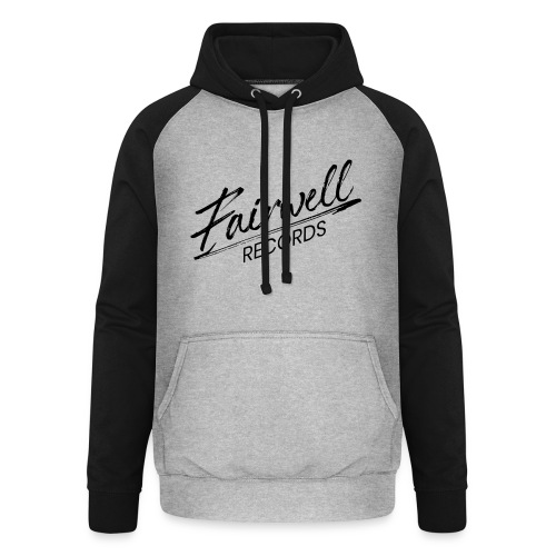 Fairwell Records - Black Collection - Unisex baseball hoodie