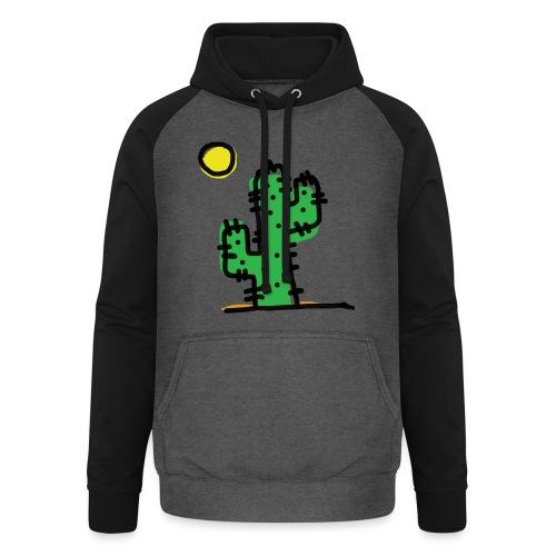 Cactus single - Felpa da baseball con cappuccio unisex