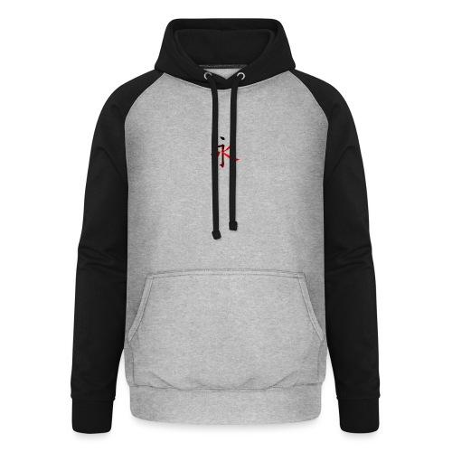 Kinesisk Bogstav Rød/Sort på Brystkassen - Unisex baseball hoodie