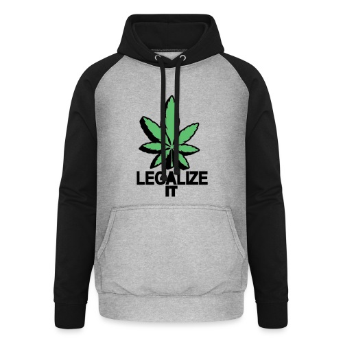 Legalize it Green - Unisex Baseball Hoodie