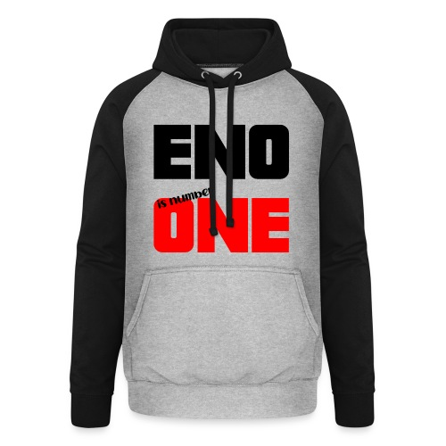 eno is number one - retro / musta - Unisex baseball-huppari