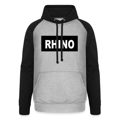 Rhino Logo - Unisex Baseball Hoodie