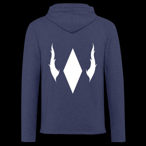 Crystal With Wings WGDK Hvid - Let sweatshirt med hætte, unisex