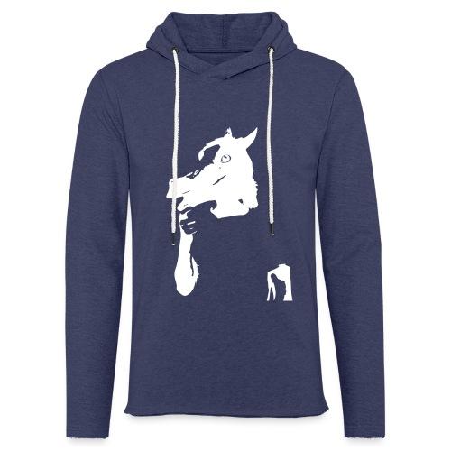 Funny horse - Sweat-shirt à capuche léger unisexe
