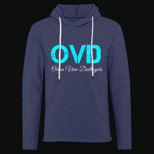 ovd blue text - Light Unisex Sweatshirt Hoodie