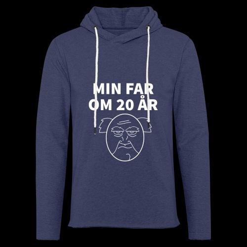 Min Far Om 20 År (Moto) - Let sweatshirt med hætte, unisex