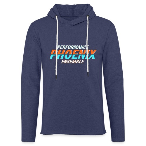 Phoenix Distorted Cyan - Leichtes Kapuzensweatshirt Unisex