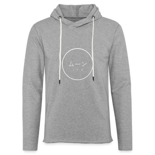 Mūn- logo blanc - Sweat-shirt à capuche léger unisexe