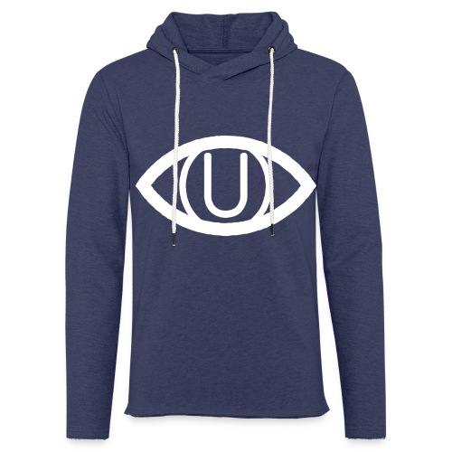 EYE SYMBOL WHITE - Light Unisex Sweatshirt Hoodie