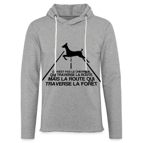 Chevreuil - Sweat-shirt à capuche léger unisexe