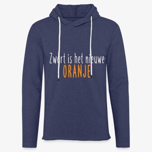Zwart is het nieuwe oranje - Lichte hoodie unisex