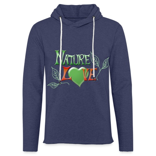 Nature Love - Leichtes Kapuzensweatshirt Unisex