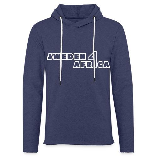 sweden 4 africa text logo v2 white - Lätt luvtröja unisex