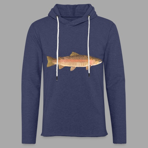 low-polygon-trout art.png - Kevyt unisex-huppari