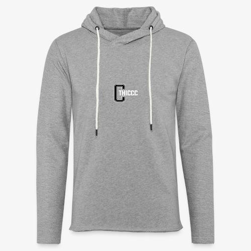 thiccc logo Black and White - Light Unisex Sweatshirt Hoodie