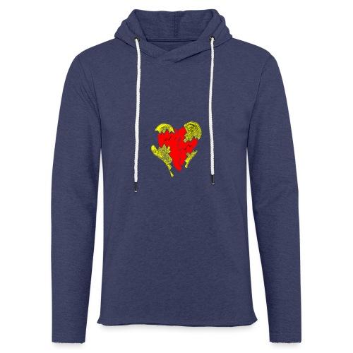 peeled heart (I saw) - Light Unisex Sweatshirt Hoodie
