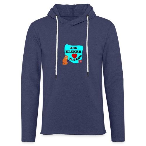 Jeg elsker Norge - Lett unisex hette-sweatshirt