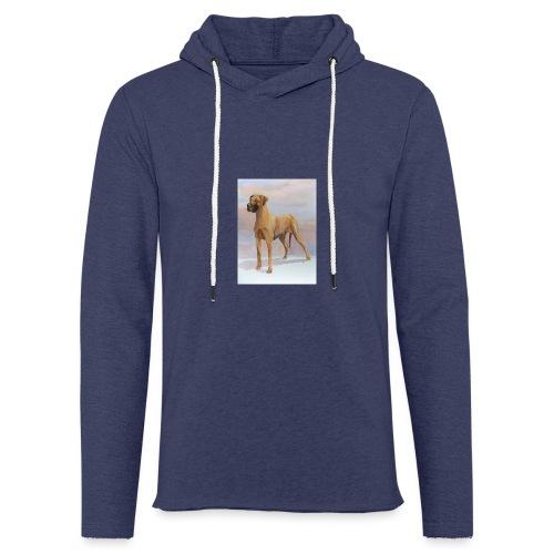 Great Dane Yellow - Let sweatshirt med hætte, unisex
